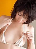 Nana Nanaumi Asian shows hot behind and takes long socks off